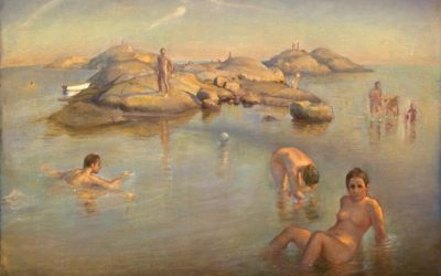 Bathing Nymphs, 2008. Oil on canvas, 100 x 70 cm.