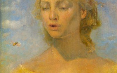 Bee, 2008. Oil on wood, 20 x 30 cm.