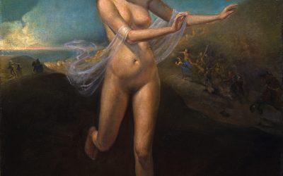 Escape II,  2005. Oil on canvas, 100 x 75 cm.