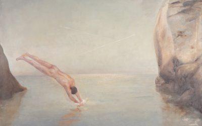 Dive, 2012.  Oil on canvas,  140 × 125 cm.