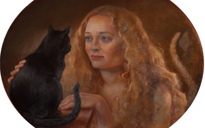 Like a Cat, 2012. Oil on Canvas,  60 x 50 cm.