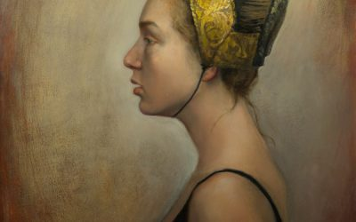 Light profile. Oil on wood, 50 x 70 cm.