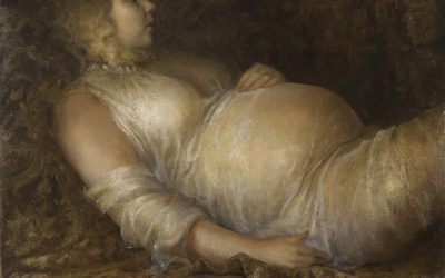 Pregnant Woman, Therese, 2008. Oil on canvas, 100 x 120 cm.