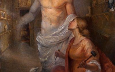 Pygmalion, 2009-2010. Oil on canvas, 105 x 100 cm.