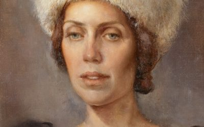 Russian Portrait, 2010. Oil on canvas, 40 x 35 cm.