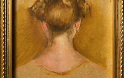 Two-Sided Self-Portrait, back. 2007. Oil on wood, 10 x 12 cm.