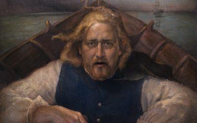 Terje Vigen, 2005. Oil on canvas, 70 x 75 cm.