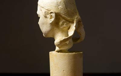 Bust of Mille III, 2006. Plaster, H 25 cm.