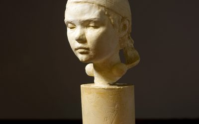 Bust of Mille II, 2006. Plaster, H 25 cm.