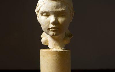 Bust of Mille I, 2006. Plaster, H 25 cm.