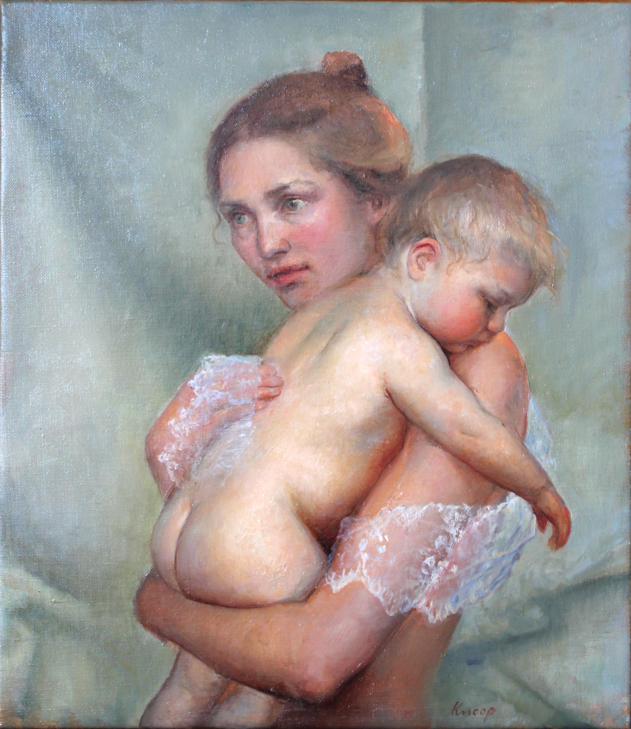Baby skin, 2015. Oil on canvas, 40 x 35 cm.