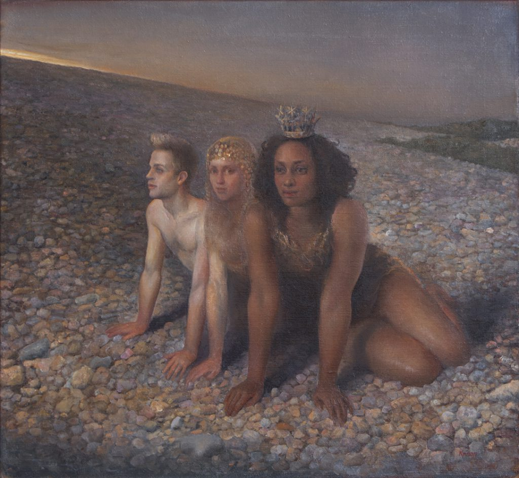 On The Beach, 2012. Oil on canvas, 60 x 65 cm.
